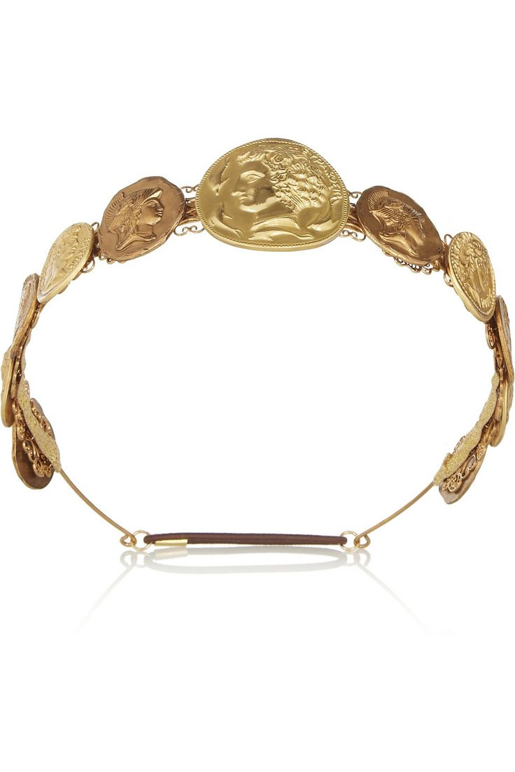 Dolce & Gabbana|Gold-tone coin headband|NET-A-PORTER.COM