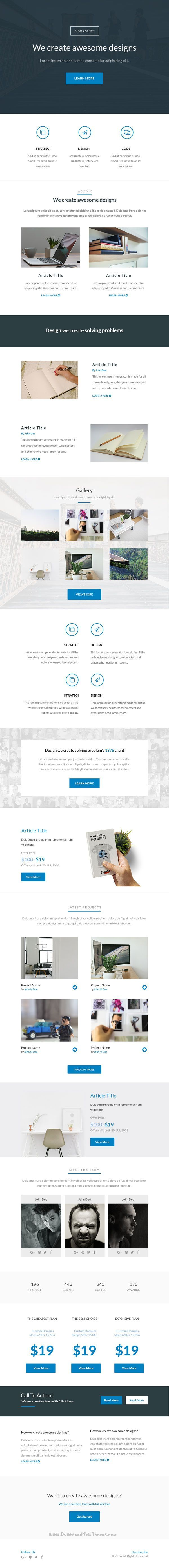 Dido Best Premium Simple and Modern Responsive Email Template Download #marketing #emailtemplate #viral