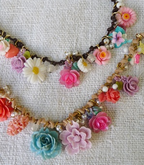 charm necklaces  take parts from older unattractive jewelry and put a bunch of them on a single necklace.