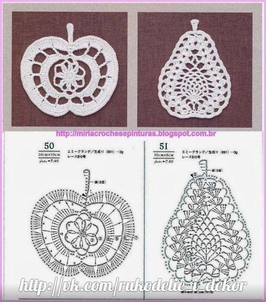 Crochet mode: fruit big platter - maomao - i am moving heart