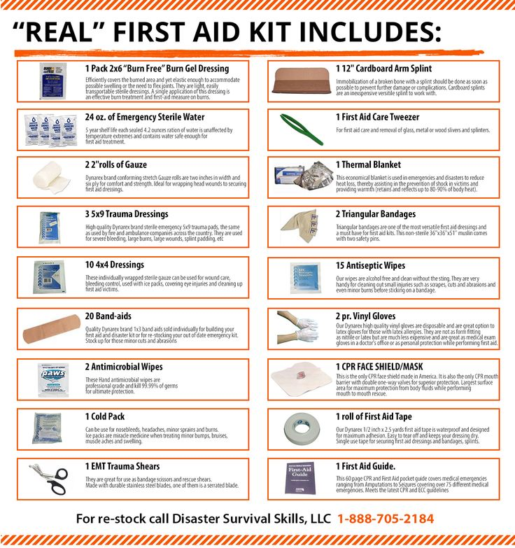 To be called the best First Aid Kit, the kit should be able to handle almost every type of true life threatening first aid emergency.