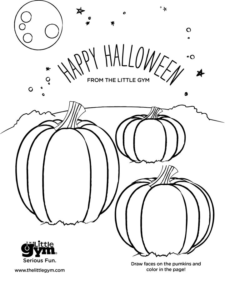 Get In The Halloween Spirit With This Coloring Page From TheLittleGym Click Link