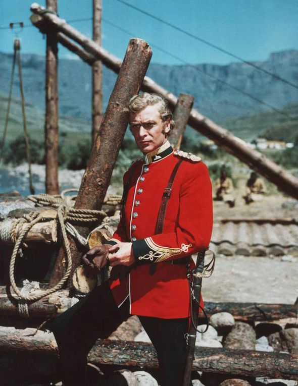Michael Caine in his first major film, Zulu