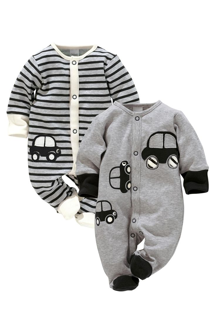 Buy Car Sleepsuits Two Pack (0mths-2yrs) from the Next UK online shop