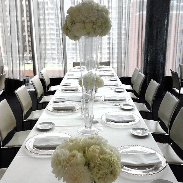 Malaparte at Toronto's TIFF lightbox on King st west Highs & lows for today's wedding centerpieces!