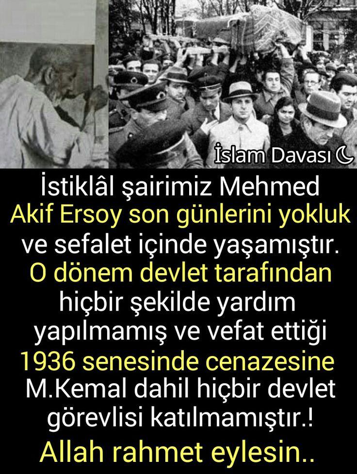 Mehmed Akif Ersoy'un cenazesi..