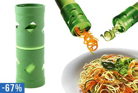 Spiraal groentesnijder nu voor slechts €9,95 | Praktische en handige keuken gadget #veilig #snel #groente #snijden