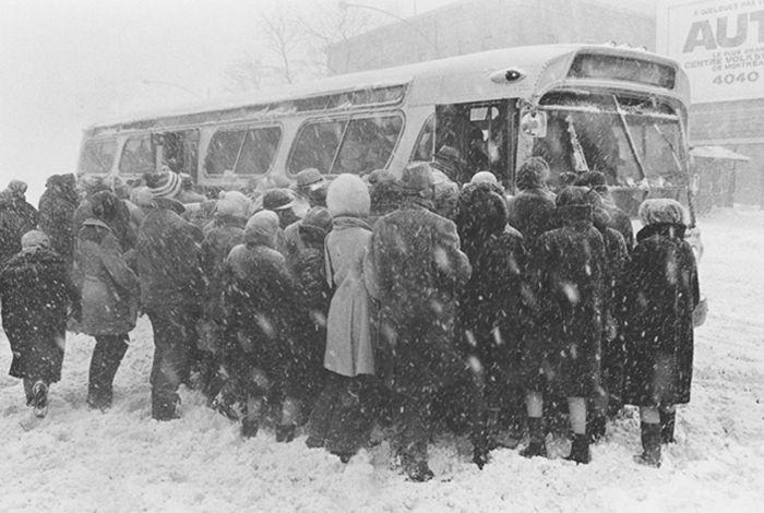 Tempête de neige, Montréal, Québec, 1971 © Gabor Szilasi