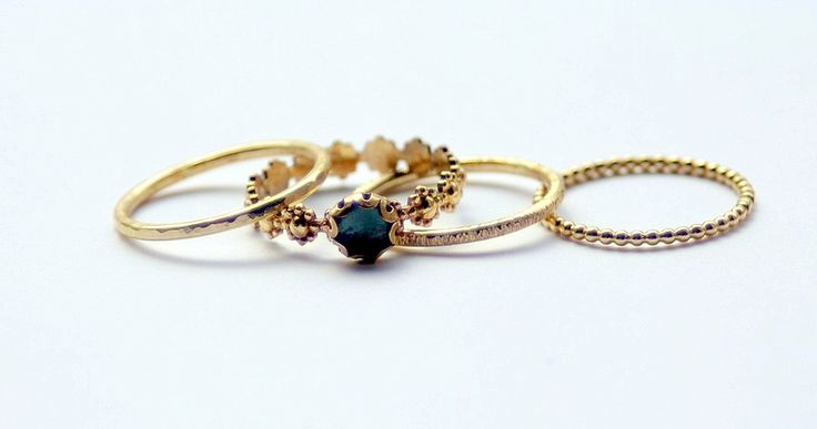 Nadines unique stackable wedding/engagement rings &  bangles.   Simple and stunning jewelry