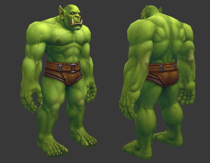ArtStation - Orc Male, Dusty Nolting