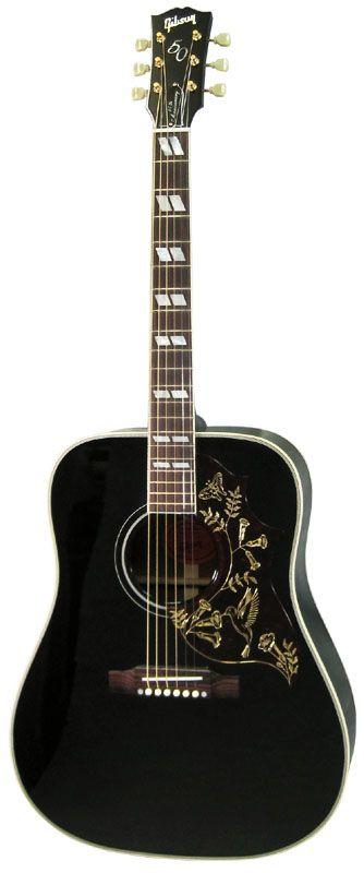 Gibson Limited Edition Hummingbird Ebony Black.