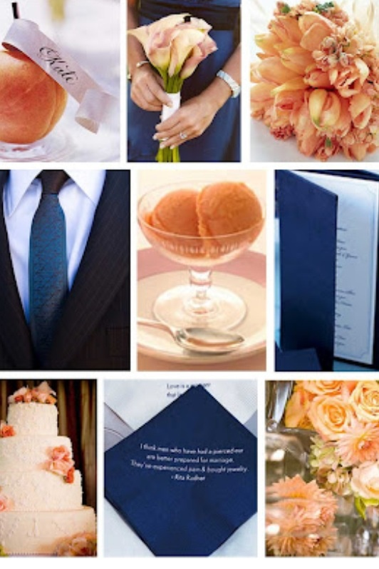 navy and peach for @Katie Hrubec Schmeltzer Schmeltzer Beasley: Wedding Inspiration, Inspiration Board, Wedding Ideas, Wedding Stuff, Wedding Colors, Color Palette, Peaches, Navy Wedding, Peach Wedding