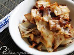 Brisando na Cozinha: Salada oriental de repolho com gengibre e shoyu