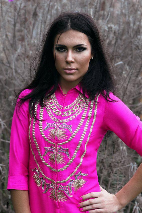 BIRDSKINAU / Odisha Silk Shirt Dress / Etsy Fashion