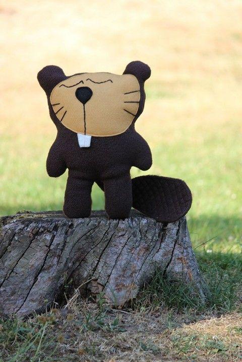 Hajánek lesní - bobr potůčkový hajánek pro děti na spaní bobr bobřík hračka. do postýlky