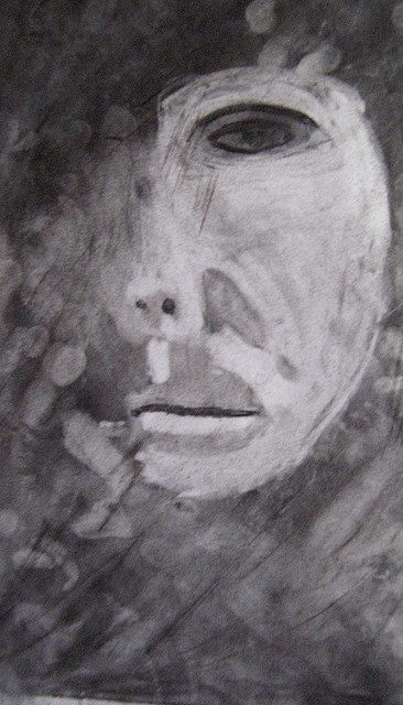 charcoal portraits with light and shadow