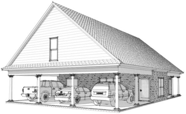Best 25 2 car carport ideas on pinterest carport for Garage plans with carport