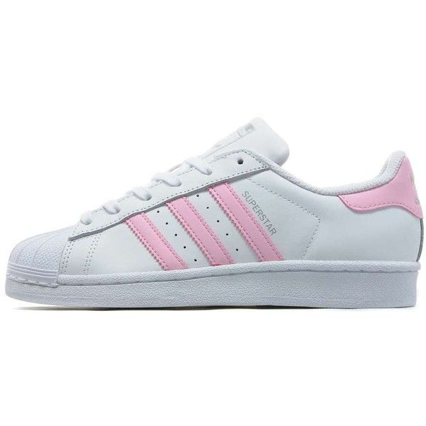 adidas Originals Superstar Women's ($90) ❤ liked on Polyvore featuring shoes, clothes mix, stripe shoes, adidas originals, rubber shoes, adidas originals shoes and leather upper shoes