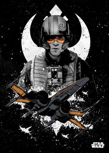 Star Wars Poe Dameron metal poster - PosterPlate posters made out of metal