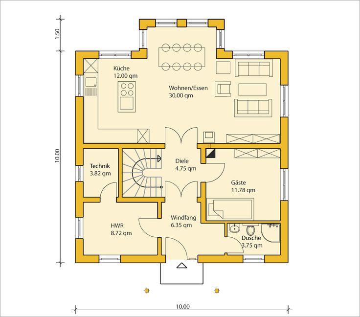grundriss eg grundrisse pinterest grundrisse hausbau und h uschen grundrisse. Black Bedroom Furniture Sets. Home Design Ideas