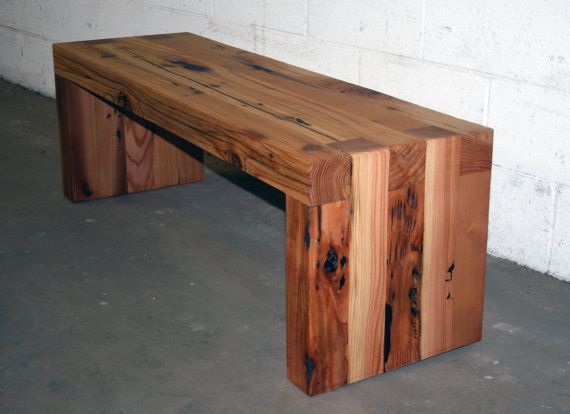 The box joint bench coffee table 48 long made from for Coffee tables 4x4