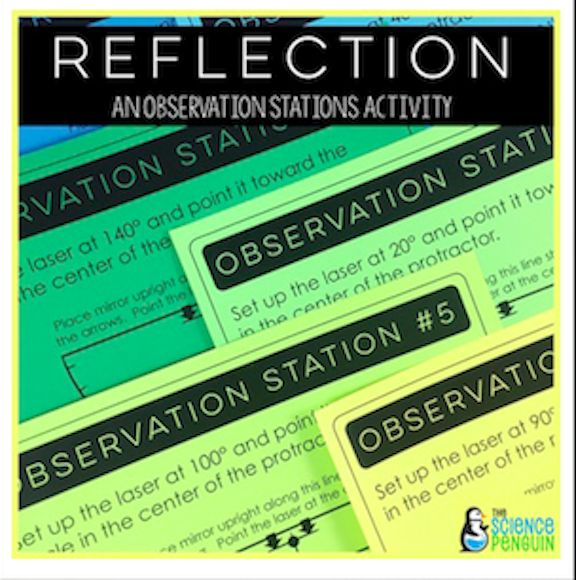 Reflection of Light - An Observation Station from The Science Penguin.