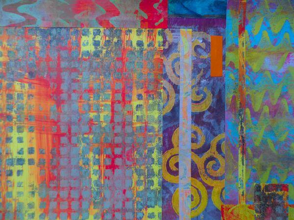 Collage of Gelli prints