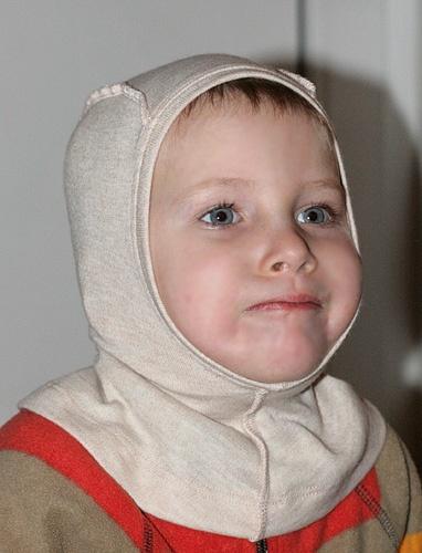 Детский шлемик Пузо Карапуза шерстяной светло-рыжий