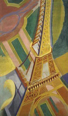 La Tour Eiffel, par Robert Delaunay -1926 Musée d'Art moderne de la Ville de Paris.