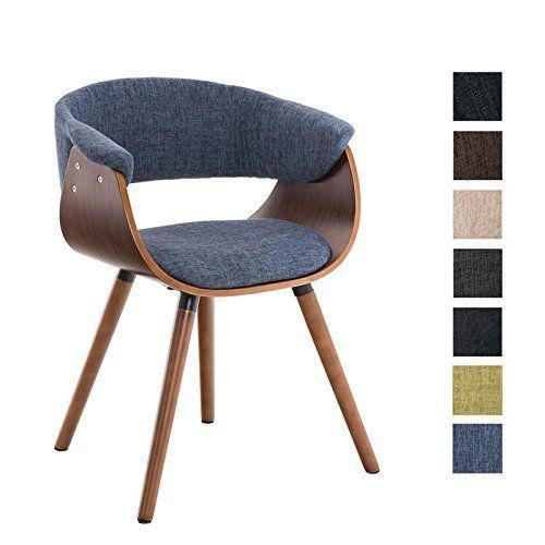 CLP Chaise de visiteur PIRMA moderne au style scandinave noix avec