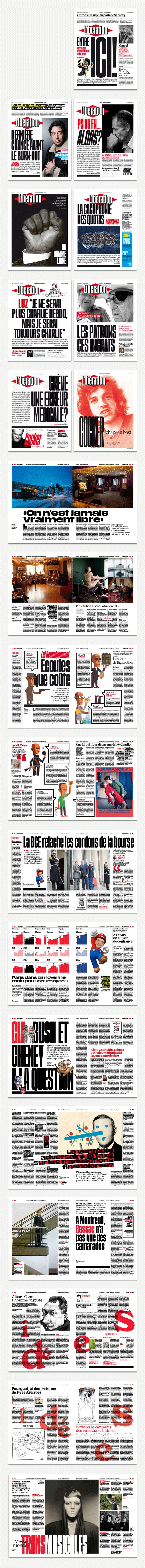 Diseño periodístico / Rediseño impreso del periódico francés Libération