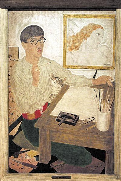 Self-portrait by Leonard Tsuguharu Foujita