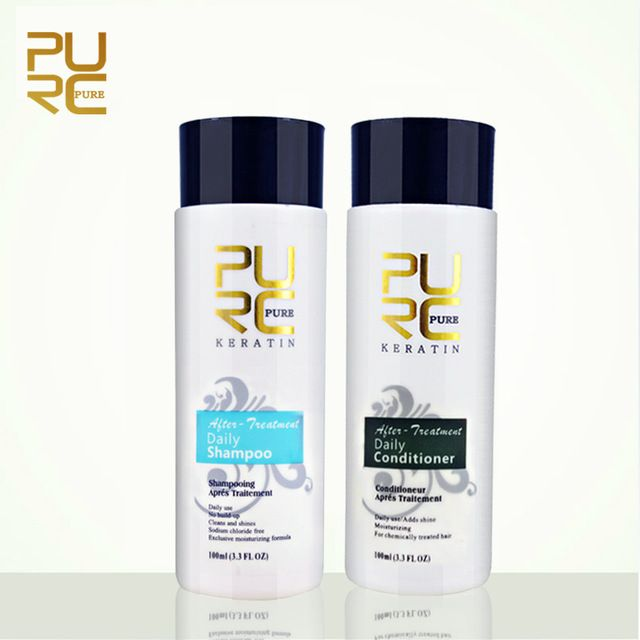 PURC shampoo and conditioner 100ml hair care sets professional use for keraetin hair treatment make hair smoothing and shine #fashion #beauty #shampoo #haircare