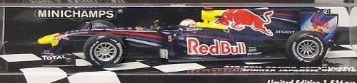 Red Bull Racing 1:43 Scale Renault RB6 Sebastian Vettel Japenese GP 2010 Red Bull Renault RB6 (Sebastian Vettel - Japanese GP 2010) in Dark Blue (1:43 scale by Minichamps 410100305)This Red Bull Renault RB6 (Sebastian Vettel - Japanese GP 20 (Barcode EAN = 4012138113879) http://www.comparestoreprices.co.uk/cars-and-other-vehicles/red-bull-racing-143-scale-renault-rb6-sebastian-vettel-japenese-gp-2010.asp