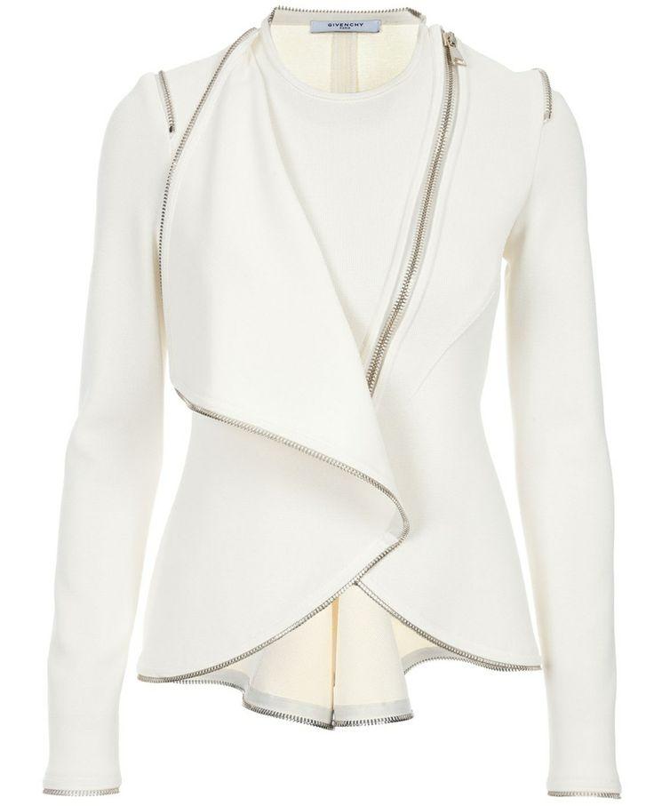 Great jacket - Givenchy: Fashion, White Leather Jacket, Cream Soft, Italy Jacket, White Blazer, Soft Leather, Coats Jackets, Leather Coat Jacket, Givenchy Zip