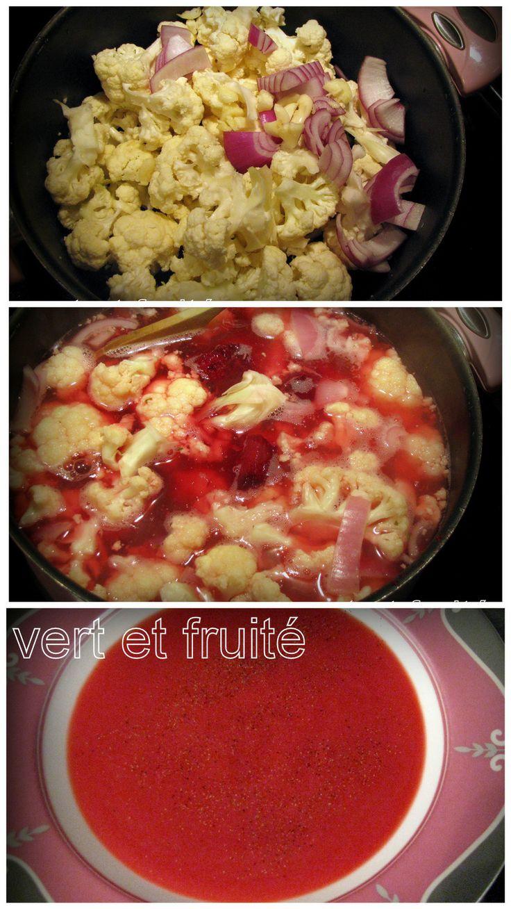 Velouté de chou-fleur et betteraves (sans gluten et végan) http://vertetfruite.com/betteraves/