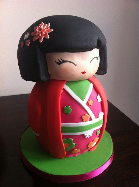 Japanese Geisha Girl Cake