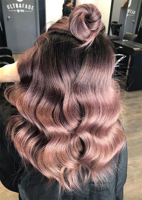 Rose Brown Hair Pattern: 23 magische Rosenbraune Haarfarben, um …