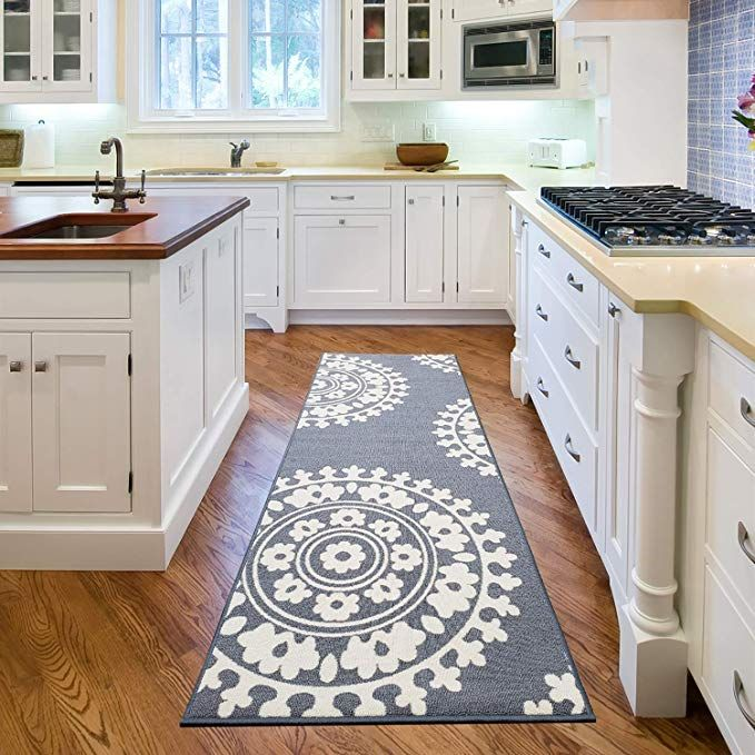 Qute Home European Medallion Non Slip Rubber Backed Area Rugs Area Rugs Contemporary Area Rugs Rubber Backed Area Rugs