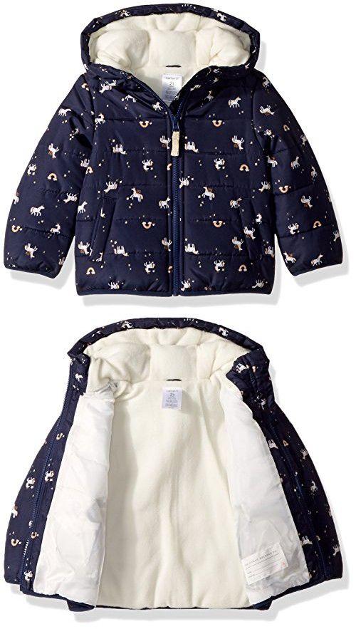 ff141169b72f Carter s Baby Girls  Fleece Lined Puffer Jacket Coat