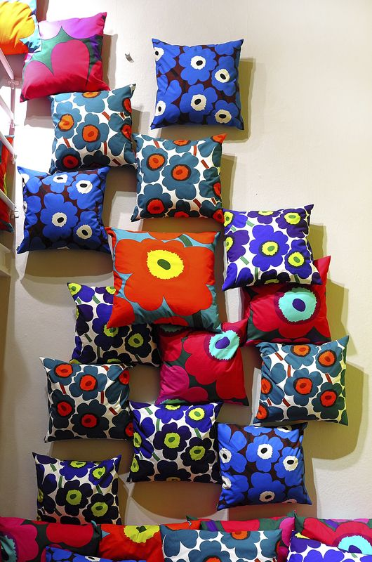 Marimekko took a stand on power of expression with an Unikko pattern place at Spazio Rossana Orlandi during Milan design week in April 2014. #unikko50 #marimekko