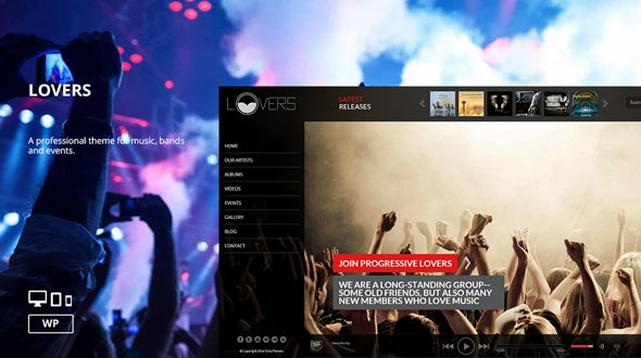 Lovers – Music WordPress Theme