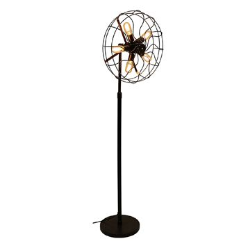 LumiSource LS-L-OSCFLR AN Ozzy Vintage Industrial Floor Lamp in Antique Finish by, Height 62'' #affiliate