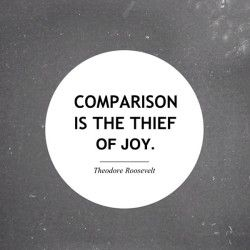 It really is. Just live your life, and make that be enough to make you happy. // totally guilty of comparing too much - I think we all are!