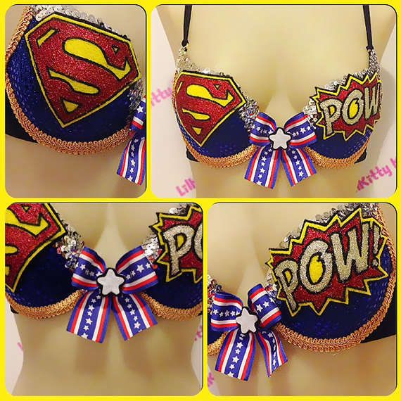 Glitzy Superhero Lingerie - This Superman-Inspired Bra Pays Tribute to the Iconic Man of Steel (GALLERY)