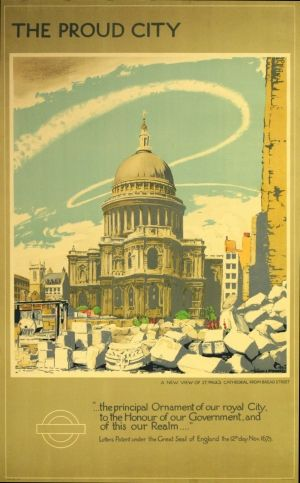 The Proud City, 1944 - original vintage poster by Walter E. Spradberry listed on AntikBar.co.uk