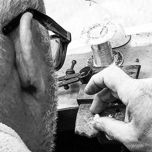 Bill is hard at work carving something wondrous in his studio...   #Workshop #handcarved #Kent #BillSkinner