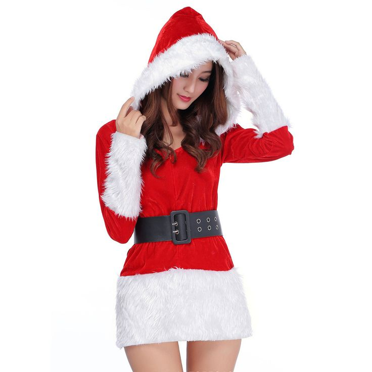 >> Click to Buy << 2016 New Women Christmas Dress Sexy Ladies white Black Santa Costume Women Mrs Party Fancy Two Parts Dress Cosplay Suit #LYW #Affiliate