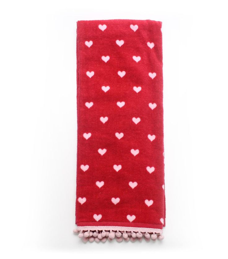 Valentine's Day Terry Hand Towel-Heart