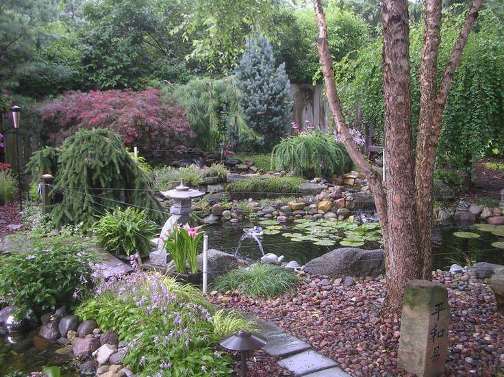 38 Glorious Japanese Garden Ideas: River Birch, Weeping Katsura, Japanese Larch Columnar Blue